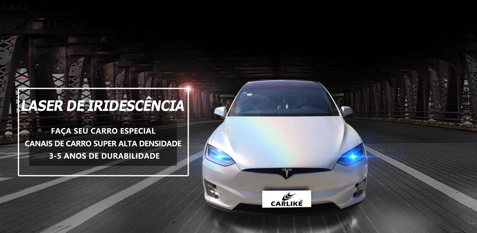 CARLIKE CL-IL Etiqueta do vinil do envoltório do carro do brilho do carro do brilho do laser da iridescência